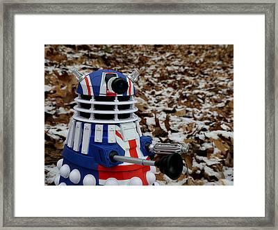 Dr Who - Forest Dalek Framed Print