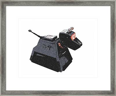 Dr Who - K9 Framed Print by Richard Reeve
