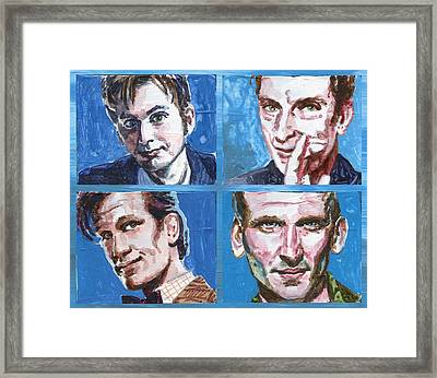 Dr. Who Framed Print by Ken Meyer jr