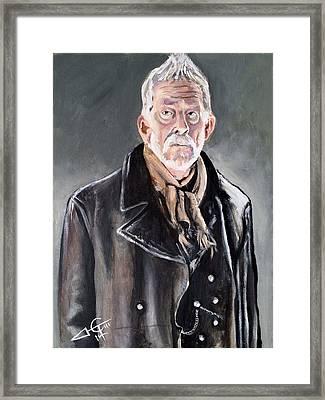 Dr Who - War Doctor - John Hurt Framed Print by Tom Carlton
