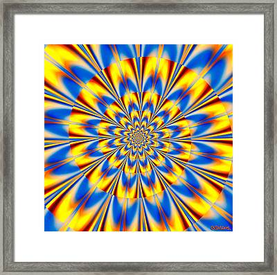 Dr. Who's Spiral Of Time Framed Print