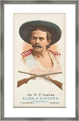 Dr. William Frank Carver, Rifle Framed Print by Allen & Ginter