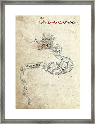 Draco Constellation Framed Print