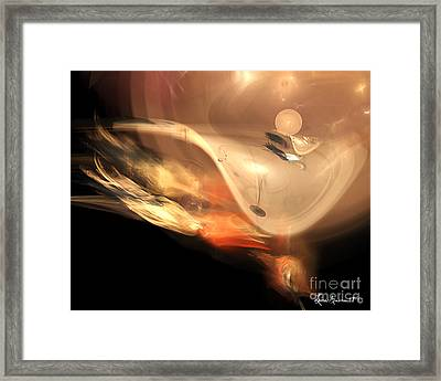 Draconic Mammal Framed Print by Leona Arsenault
