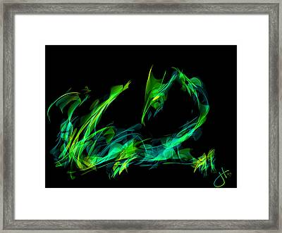 Draconus Emeraude Framed Print