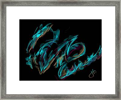 Draconus Labradorite Framed Print
