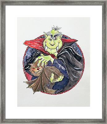 Dracula Framed Print by Maylee Christie