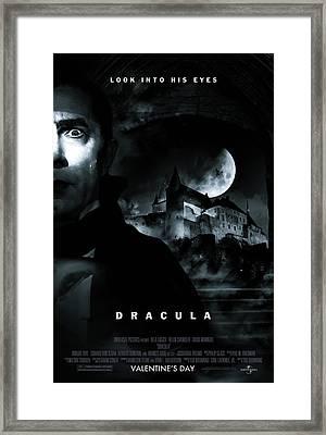 Dracula Custom Poster Framed Print by Jeff Bell