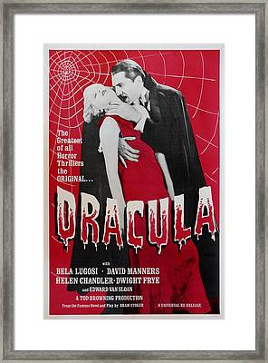 Dracula Framed Print by Georgia Fowler