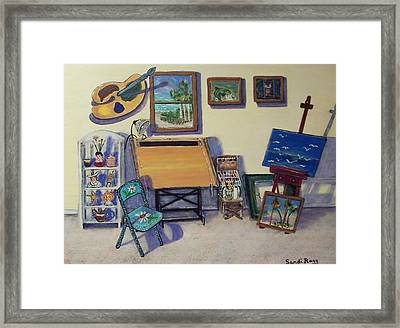 Drafting Table Framed Print