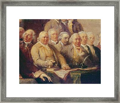 Drafting The Declaration Of Independence, 28th June 1776, C.1817 Oil On Canvas Detail Of 702745 Framed Print by John Trumbull