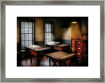 Draftsman - The Drafting Room Framed Print