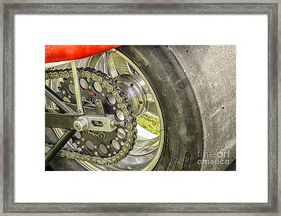 Framed Print featuring the photograph Drag Bike by JRP Photography