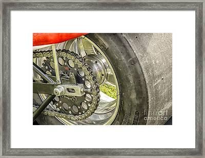 Drag Bike Framed Print