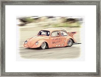 Drag Race Framed Print