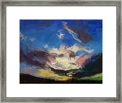 Dragon Cloud Framed Print by Michael Creese