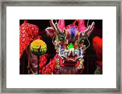 Dragon Dance Celebrating Chinese New Framed Print