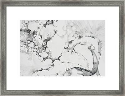 Dragon Dance Framed Print by Claudia Smaletz