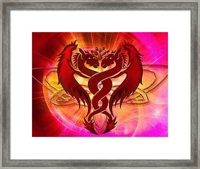 Dragon Duel Series 15 Framed Print