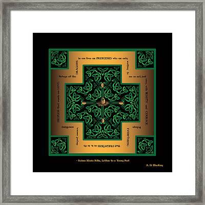 Dragon Egg Celtic Cross Framed Print