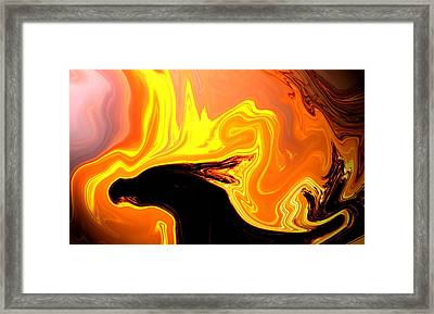 Framed Print featuring the mixed media Dragon by Elaine Malott