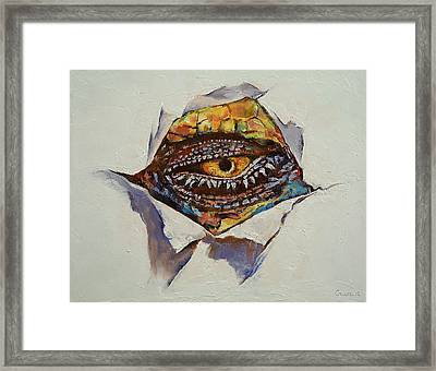 Dragon Eye Framed Print