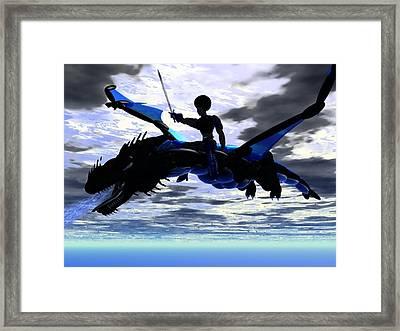 Dragon Fighter Framed Print