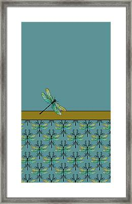 Dragon Fly Nouveau Framed Print by Jenny Armitage