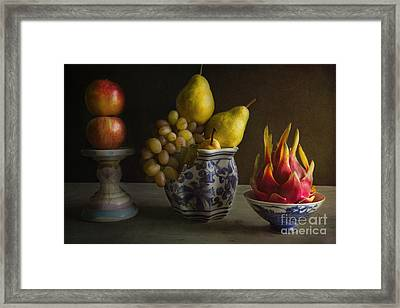 Dragon Fruit Framed Print by Elena Nosyreva