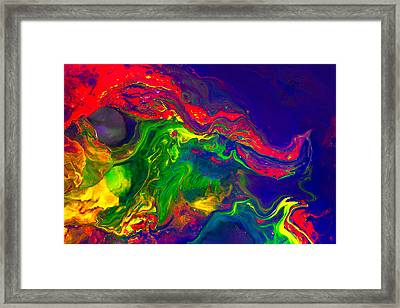 Dragon - Modern Abstract Painting Framed Print