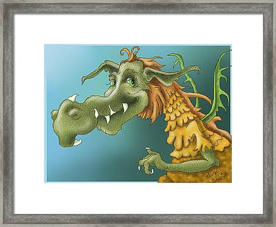 Dragon Framed Print by Hank Nunes