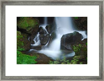 Dragon Head Falls Framed Print