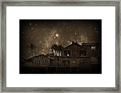 Dragon House Of Decay Framed Print by Jessica Grandall