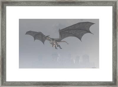 Dragon In The Fog Framed Print