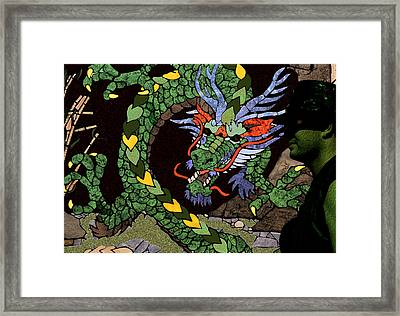 Dragon - Incognito Framed Print by Kathy Bassett