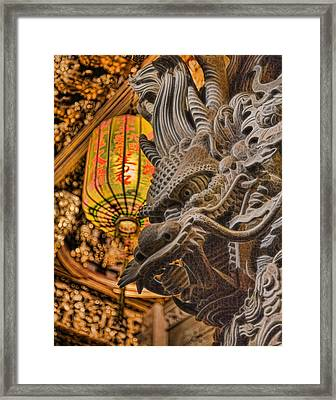 Dragon Framed Print by Karen Walzer