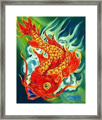 Dragon Koi Framed Print