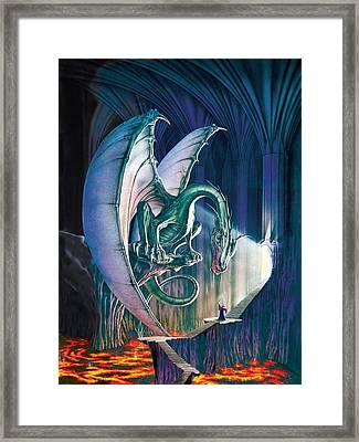 Dragon Lair With Stairs Framed Print by The Dragon Chronicles - Robin Ko