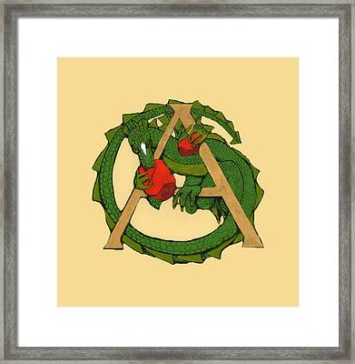 Dragon Letter A Framed Print