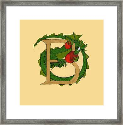 Dragon Letter B Framed Print