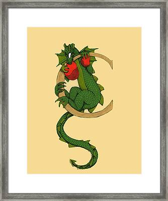Dragon Letter C Framed Print