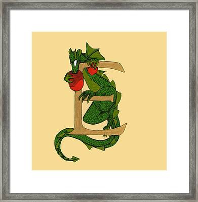 Dragon Letter E Framed Print