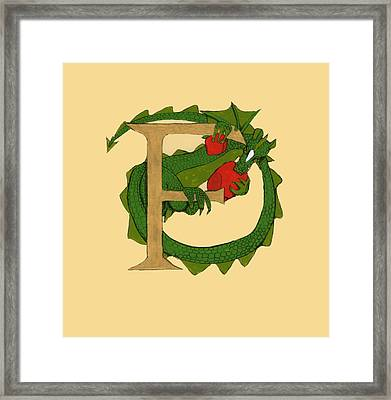 Dragon Letter F Framed Print
