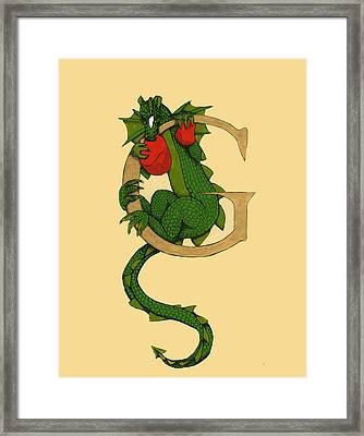 Dragon Letter G Framed Print