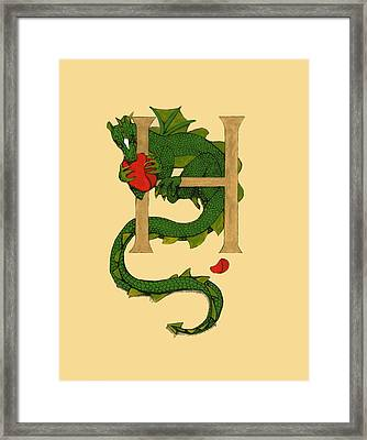 Dragon Letter H Framed Print