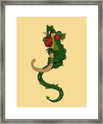 Dragon Letter J Framed Print