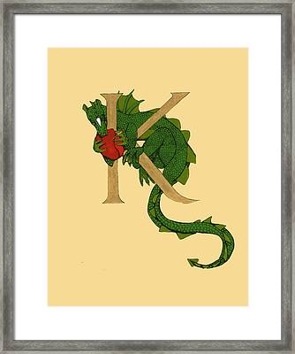 Dragon Letter K Framed Print
