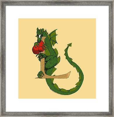 Dragon Letter L Framed Print