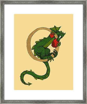Dragon Letter O Framed Print