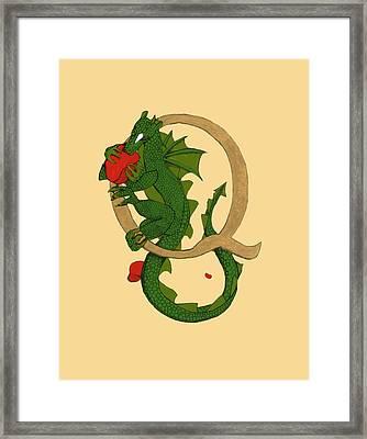 Dragon Letter Q Framed Print